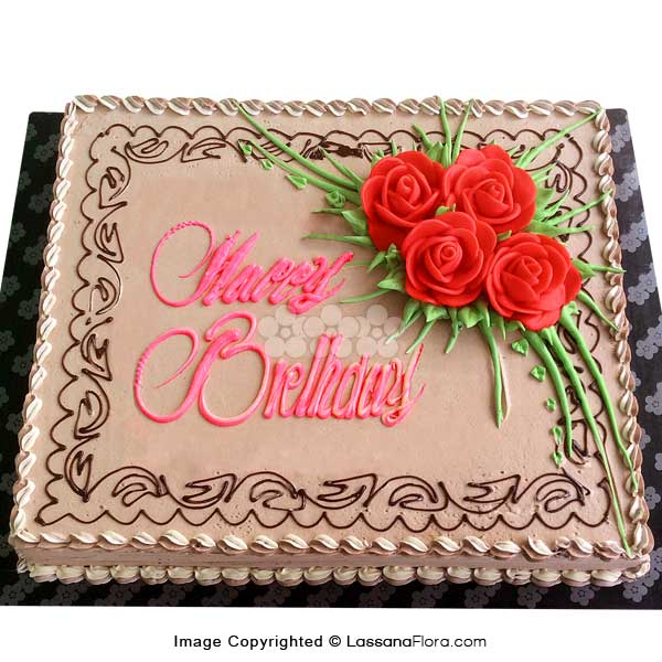 BIRTHDAY CHOCOLATE CAKE 2kg (4.4 lbs) - Lassana Cakes - in Sri Lanka