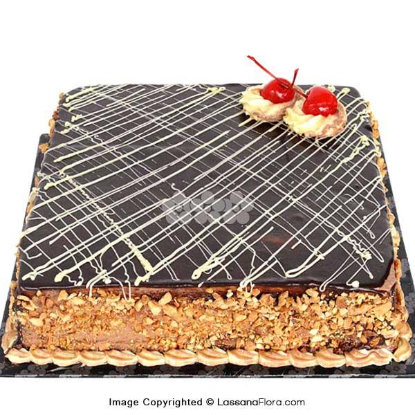 NUTTY FUDGE CAKE 1.8Kg (3.9 lbs) - Lassana Cakes - in Sri Lanka