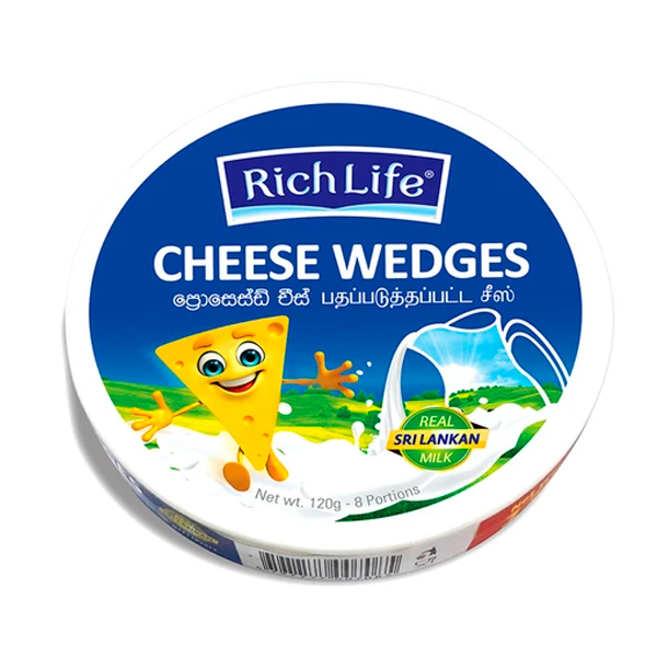 RICHLIFECHEESE WEDGES - 120G - Grocery - in Sri Lanka