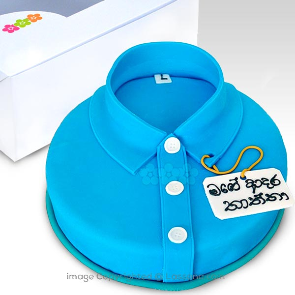 DAD S SHIRT CAKE(BLUE)  - 1.5Kg (3.3 lbs) - Lassana Cakes - in Sri Lanka