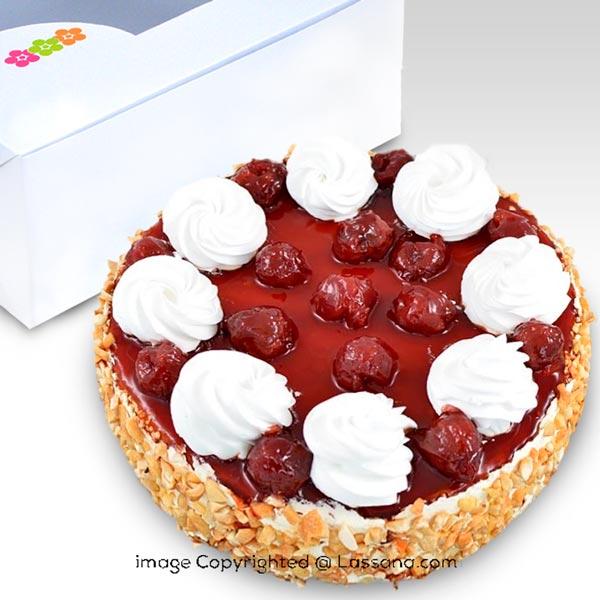 DARK SWEET CHERRY BAKED CHEESECAKE-1 KG (2.2 lbs) - Lassana Cakes - in Sri Lanka