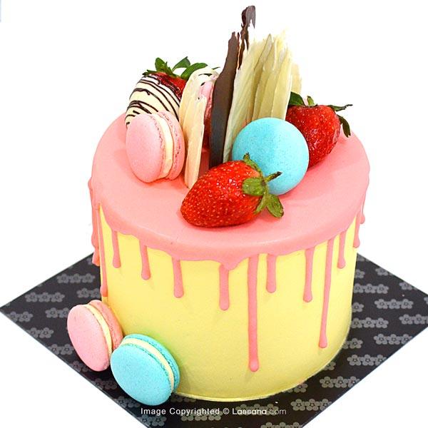 DRIP STRAWBERRY CAKE - 1Kg (2.2lbs) - Lassana Cakes - in Sri Lanka