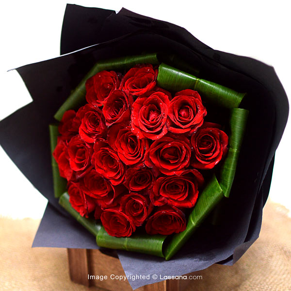 ROSE BOUQUET - 20 RED ROSES - Love & Romance - in Sri Lanka