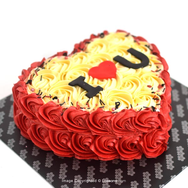 OLD FASHIONED ROSE CAKE - 1Kg ( 2.2lbs ) - Lassana Cakes - in Sri Lanka