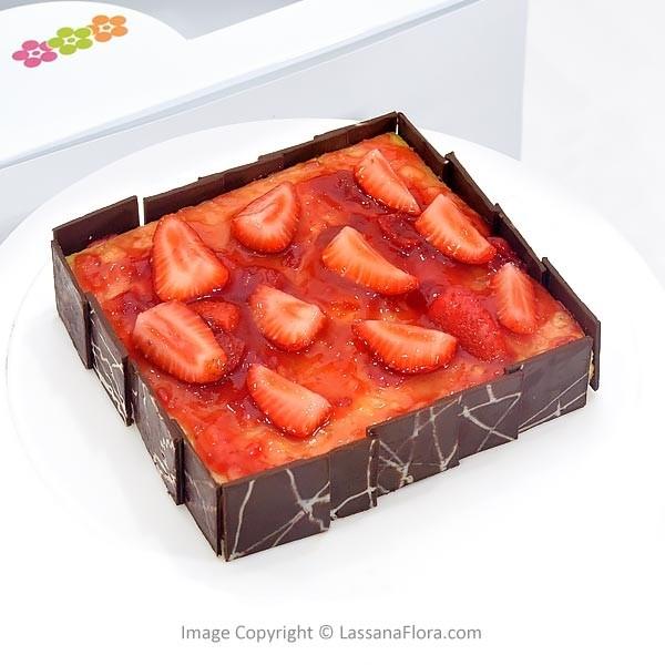 STRAWBERRY BAKED CHEESECAKE - 500g (1.1 lbs) - Lassana Cakes - in Sri Lanka