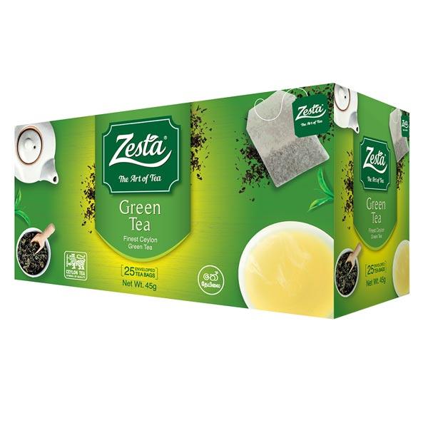 ZESTA GREEN TEA (25 TEA BAGS) - 45g - Beverages - in Sri Lanka
