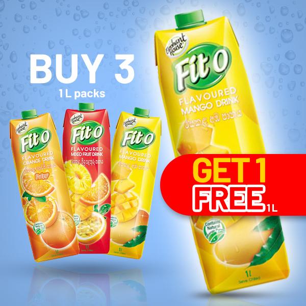 FITO ORANGE FLAVOURED FRUIT DRINK - 3 IN 1 PACK (1L EACH) - Beverages - in Sri Lanka