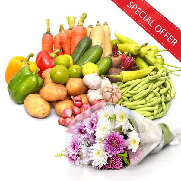 HEALTH & HAPPINESS VEGETABLES & FLOWERS COMBO - Vegetables & Fruits - in Sri Lanka
