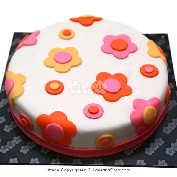 FLORAL RIBBON CAKE 1Kg - Lassana Cakes - in Sri Lanka