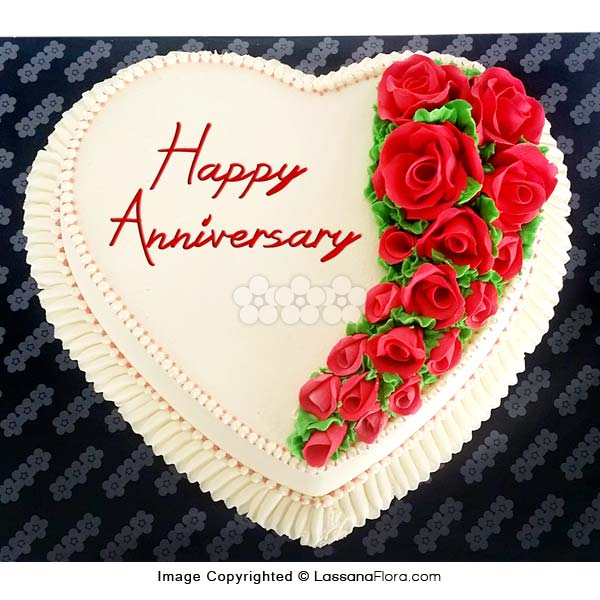 FOR YOUR ANNIVERSARRY CAKE 1.5 Kg (3.3 lbs) - Lassana Cakes - in Sri Lanka