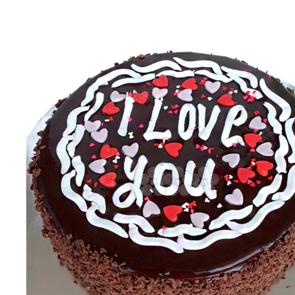 LOVE YOU CHOCO GATEAU 1Kg (2.2 lbs) - Lassana Cakes - in Sri Lanka