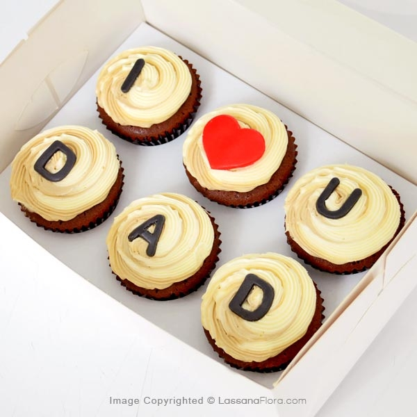 I LOVE DAD CUPCAKES (06 PCS) - Lassana Cakes - in Sri Lanka