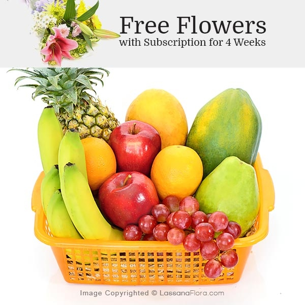 HOME FRUIT BASKET -02 - Fruit Basket & Healthy Hampers - in Sri Lanka