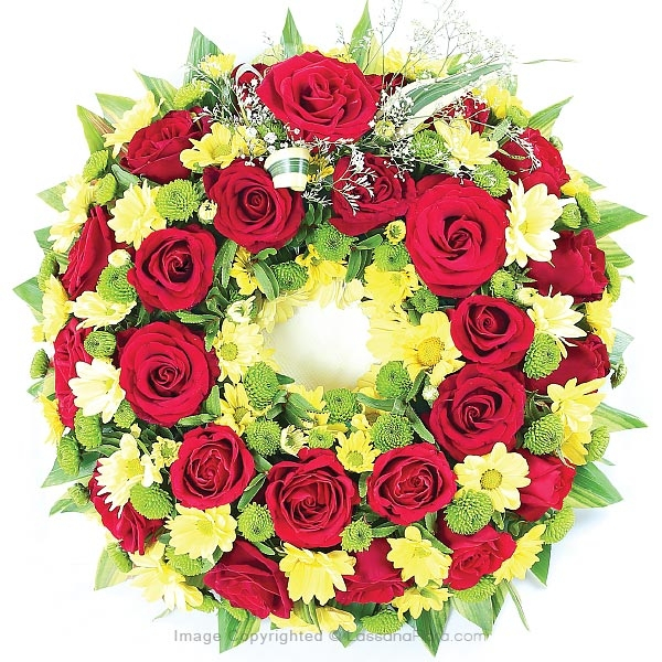 GRACEFUL TRIBUTE WREATH - Sympathy - in Sri Lanka