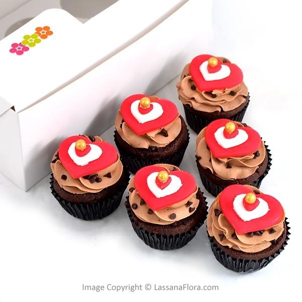 SWEET CHOCO CUPCAKE (06 PCS) - Lassana Cakes - in Sri Lanka