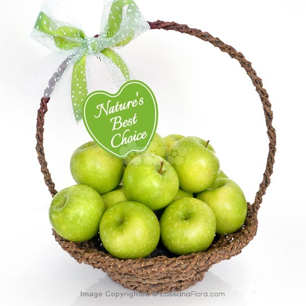 Apple a Day Fruit Basket - Fruit Basket & Healthy Hampers - in Sri Lanka