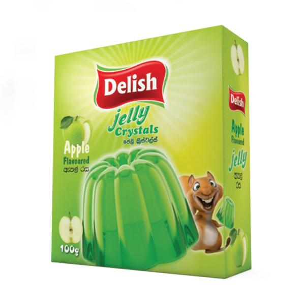 DELISH BRAND JELLY CRYSTAL -APPLE FLAVOUR 100G - Grocery - in Sri Lanka