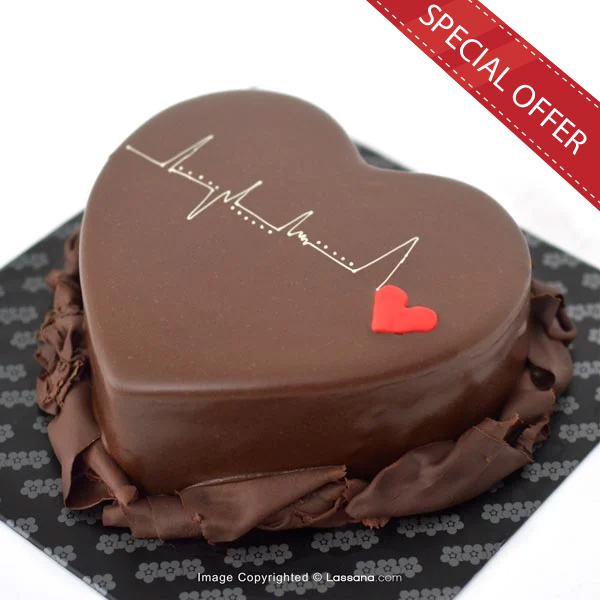 HEARTBEAT CHOCOLATE CAKE - 1kg (2.2lbs) - Lassana Cakes - in Sri Lanka