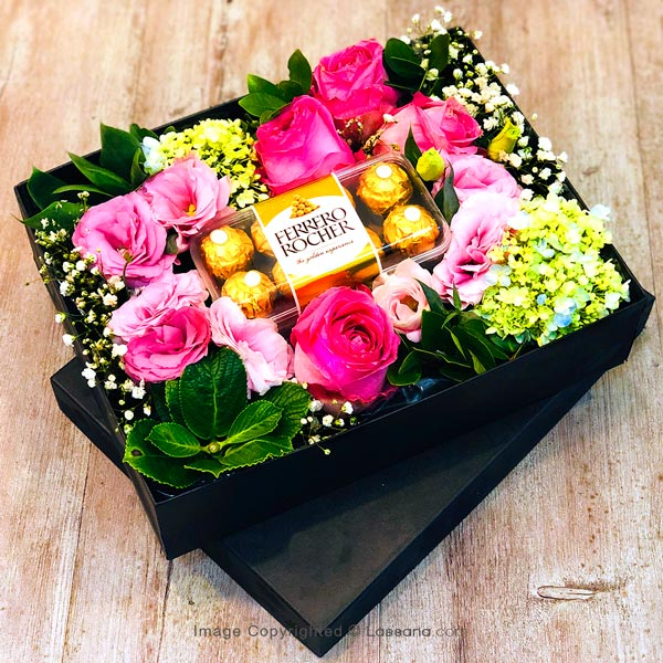 FERRERO BOX & FLOWER BOX - 1 - Gift Packs - in Sri Lanka