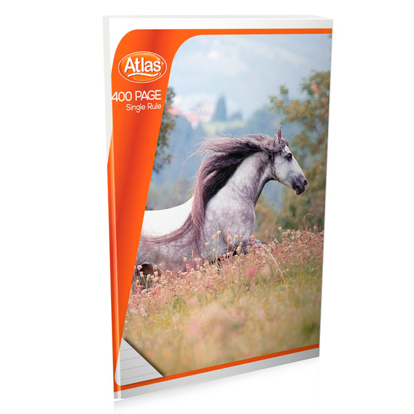 Atlas Book Exercise Single Rule 400 Pages - Stationery - in Sri Lanka