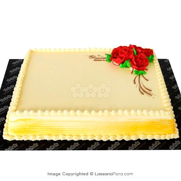 DECORATED RIBBON CAKE WITH RED ROSES 2Kg (4.4 lbs) - Lassana Cakes - in Sri Lanka