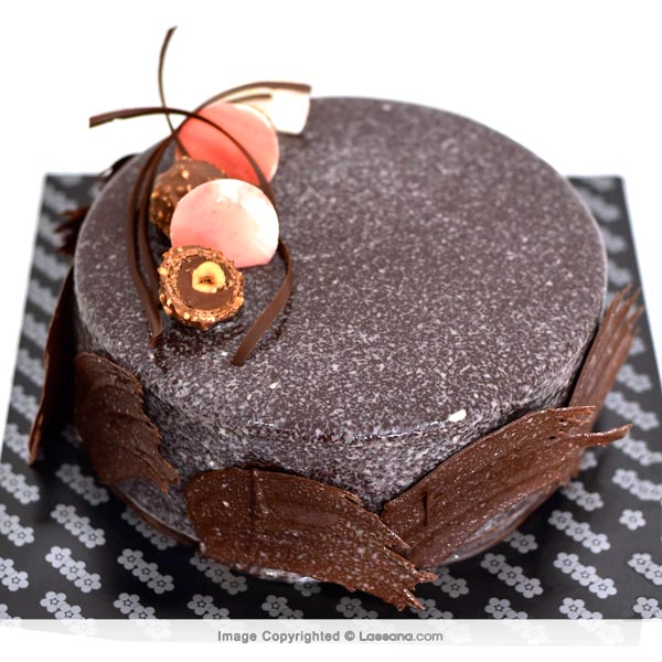 SEMI SWEET CHOCOLATE GATEAU- 1Kg(2.2 lbs) - Lassana Cakes - in Sri Lanka