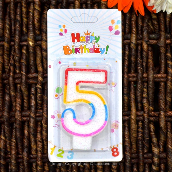 BIRTHDAY NUMBER CANDLE - 5 - Party Supplies - in Sri Lanka