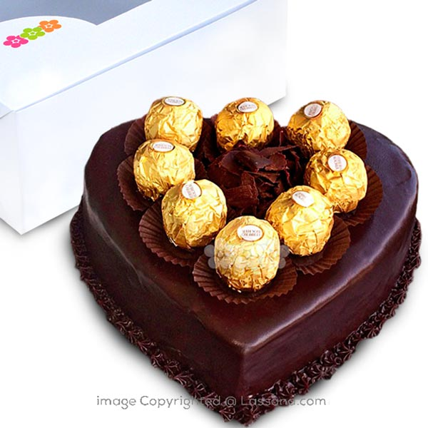 FERRERO WITH NUTELLA SPREAD CHOCOLATE GATEAU 750g (1.65 lbs) - Lassana Cakes - in Sri Lanka