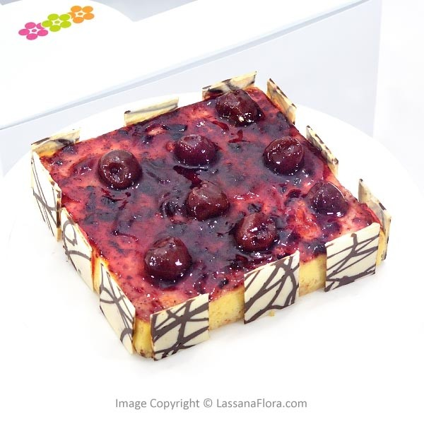 DARK SWEET CHERRY BAKED CHEESECAKE  - 500g (1.1 lbs) - Lassana Cakes - in Sri Lanka
