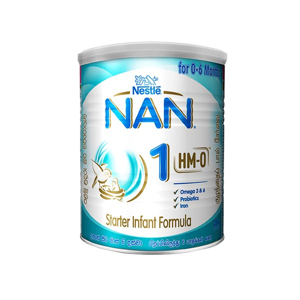 NAN - HMO - 1 STARTER INFANT FORMULA WITH IRON- BIRTH TO 6 MONTHS 400G - Baby Care - in Sri Lanka