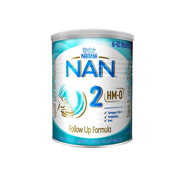 NAN - HMO - 2 FOLLOW UP FORMULA WITH IRON - 6-12 MONTHS 400G - Baby Care - in Sri Lanka