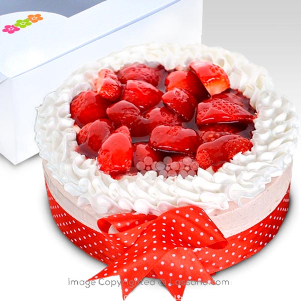 STRAWBERRY COLD CHEESE CAKE 1Kg (2.2 lbs) - Lassana Cakes - in Sri Lanka