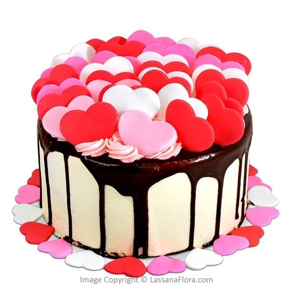HEART SHAPE CHOCOLATE CAKE - 500g (1.1 lbs) - Lassana Cakes - in Sri Lanka