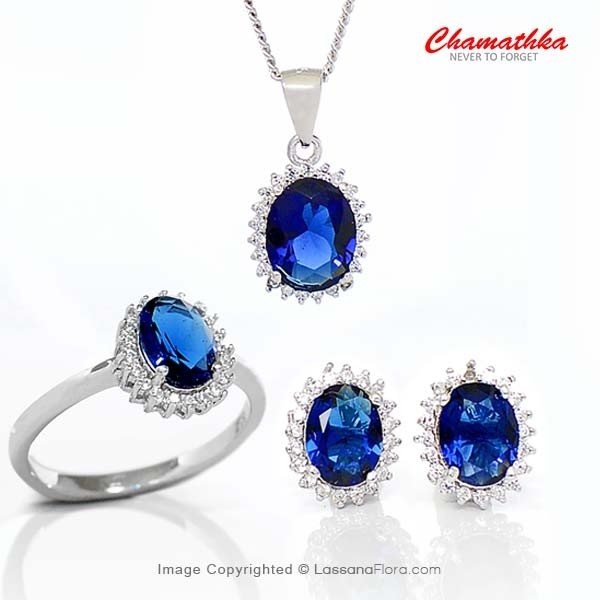 Diana Set - Cubic Zirconia - Women - in Sri Lanka
