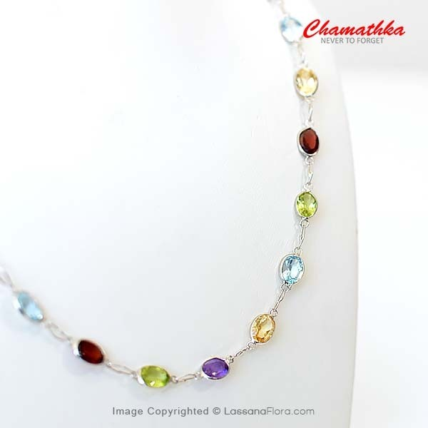 Chain with Semi Precious Stones - Women - in Sri Lanka